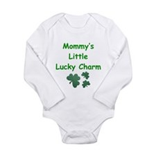 Cute Born on st patricks day Long Sleeve Infant Bodysuit