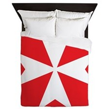 Maltese Cross Queen Duvet