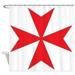 Maltese Cross Shower Curtain