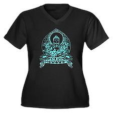 Gautama Buddha Women's Plus Size V-Neck Dark T-Shi