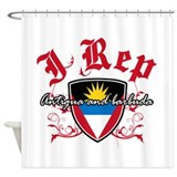I Rep Antigua And Barbuda Shower Curtain