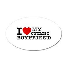 I love My Cyclist Boyfriend 38.5 x 24.5 Oval Wall