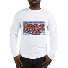 Niagara Falls Greetings (Front) Long Sleeve T-Shir