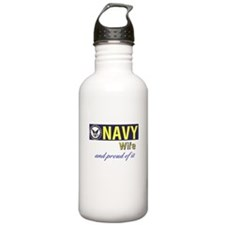 Navy Wife.png Sports Water Bottle