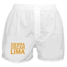 SOL-Orange Boxer Shorts