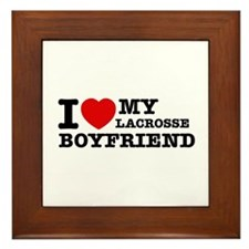 I love My Lacrosse Boyfriend Framed Tile