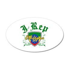I Rep Ethiopia 38.5 x 24.5 Oval Wall Peel