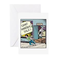 Giant Handbag Sale!! Greeting Card