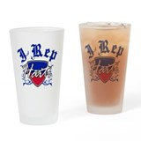 I Rep Haiti Drinking Glass