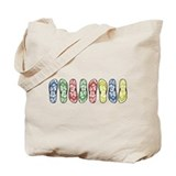 Rainbow Flops Tote Bag