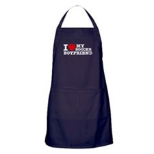 I love My Soccer Boyfriend Apron (dark)