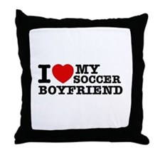 I love My Soccer Boyfriend Throw Pillow