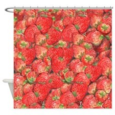 Cute Strawberry Shower Curtain