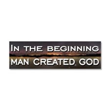 Man created god Car Magnet 10 x 3