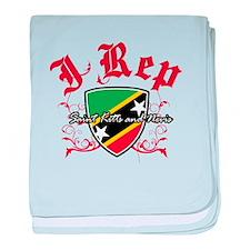 I Rep St Kitts baby blanket