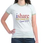 Fire Island Summer Share Jr. Ringer T-Shirt
