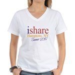 Hamptons Summer Share Women's V-Neck T-Shirt