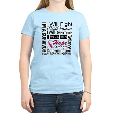 Throat Cancer Persevere Women's Light T-Shirt