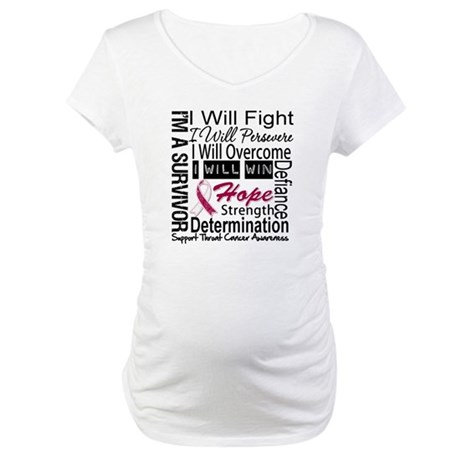 Throat Cancer Persevere Maternity T-Shirt