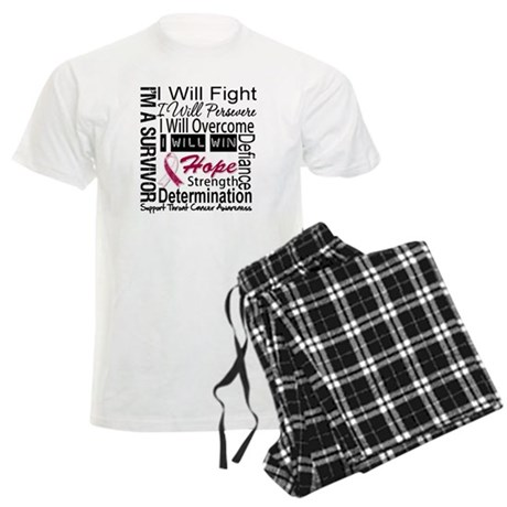 Throat Cancer Persevere Men's Light Pajamas