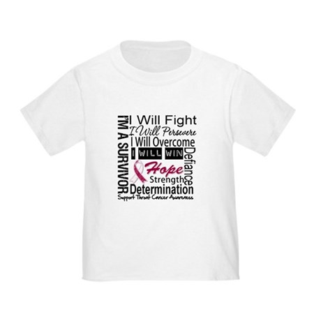 Throat Cancer Persevere Toddler T-Shirt