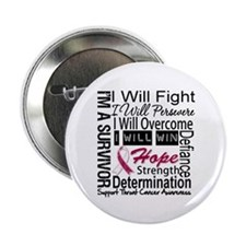 "Throat Cancer Persevere 2.25"" Button (10 pack)"