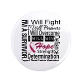 "Throat Cancer Persevere 3.5"" Button"