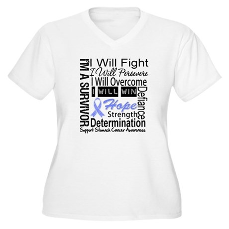 Stomach Cancer Persevere Women's Plus Size V-Neck