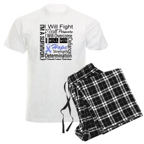 Stomach Cancer Persevere Men's Light Pajamas