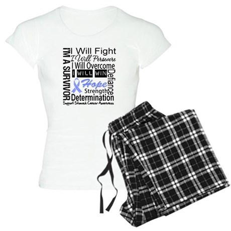 Stomach Cancer Persevere Women's Light Pajamas
