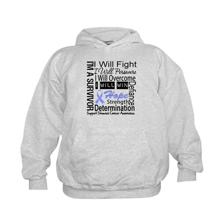 Stomach Cancer Persevere Kids Hoodie