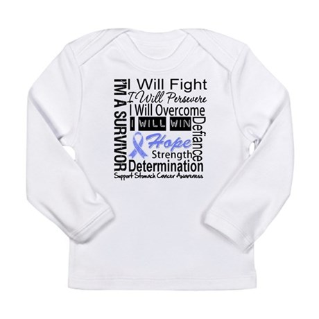 Stomach Cancer Persevere Long Sleeve Infant T-Shir