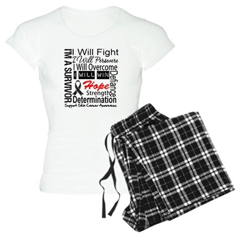 Skin Cancer Persevere Women's Light Pajamas