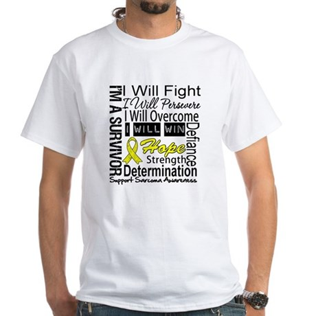 Sarcoma Fight Persevere White T-Shirt
