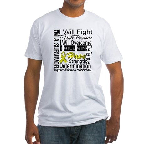 Sarcoma Fight Persevere Fitted T-Shirt