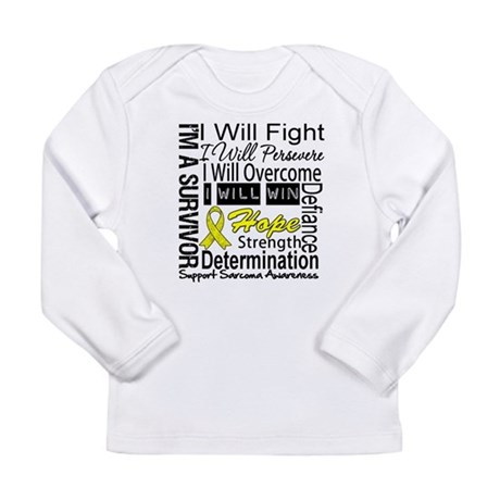 Sarcoma Fight Persevere Long Sleeve Infant T-Shirt