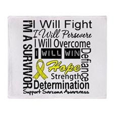 Sarcoma Fight Persevere Throw Blanket
