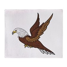 Eagle Volant Throw Blanket