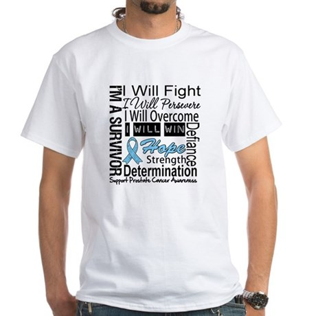 Prostate Cancer Persevere White T-Shirt