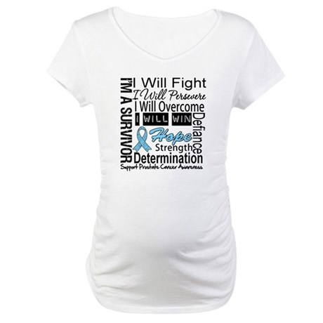 Prostate Cancer Persevere Maternity T-Shirt