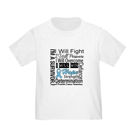 Prostate Cancer Persevere Toddler T-Shirt