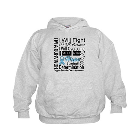 Prostate Cancer Persevere Kids Hoodie