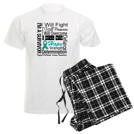 Peritoneal Cancer Persevere Men's Light Pajamas