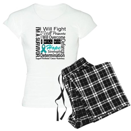 Peritoneal Cancer Persevere Women's Light Pajamas
