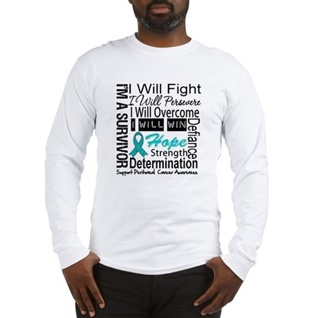 Peritoneal Cancer Persevere Long Sleeve T-Shirt