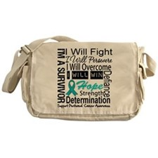 Peritoneal Cancer Persevere Messenger Bag