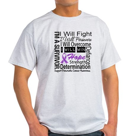 Pancreatic Cancer Persevere Light T-Shirt