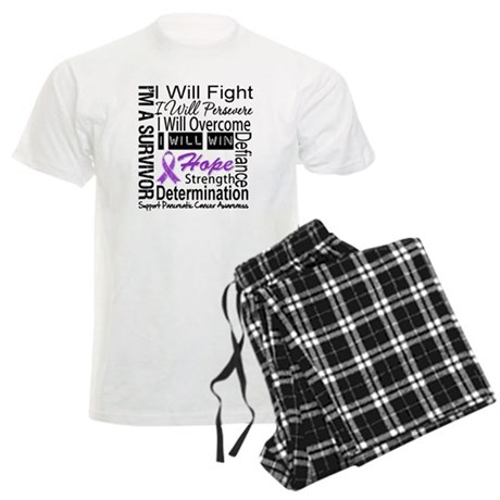 Pancreatic Cancer Persevere Men's Light Pajamas