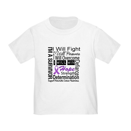 Pancreatic Cancer Persevere Toddler T-Shirt