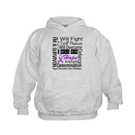 Pancreatic Cancer Persevere Kids Hoodie